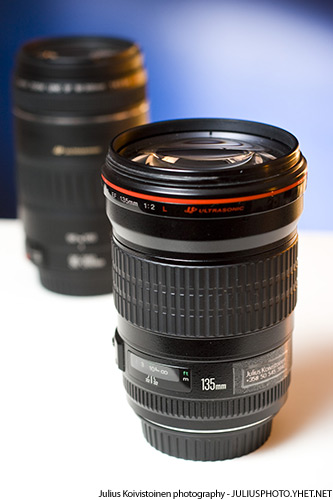 Canon EF 135mm f/2L USM is the replacement for my 90-300mm plastic toy. Photo by Julius Koivistoinen